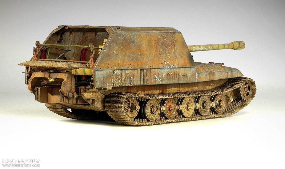 二战德国虎式17cm自行火炮(小号手)