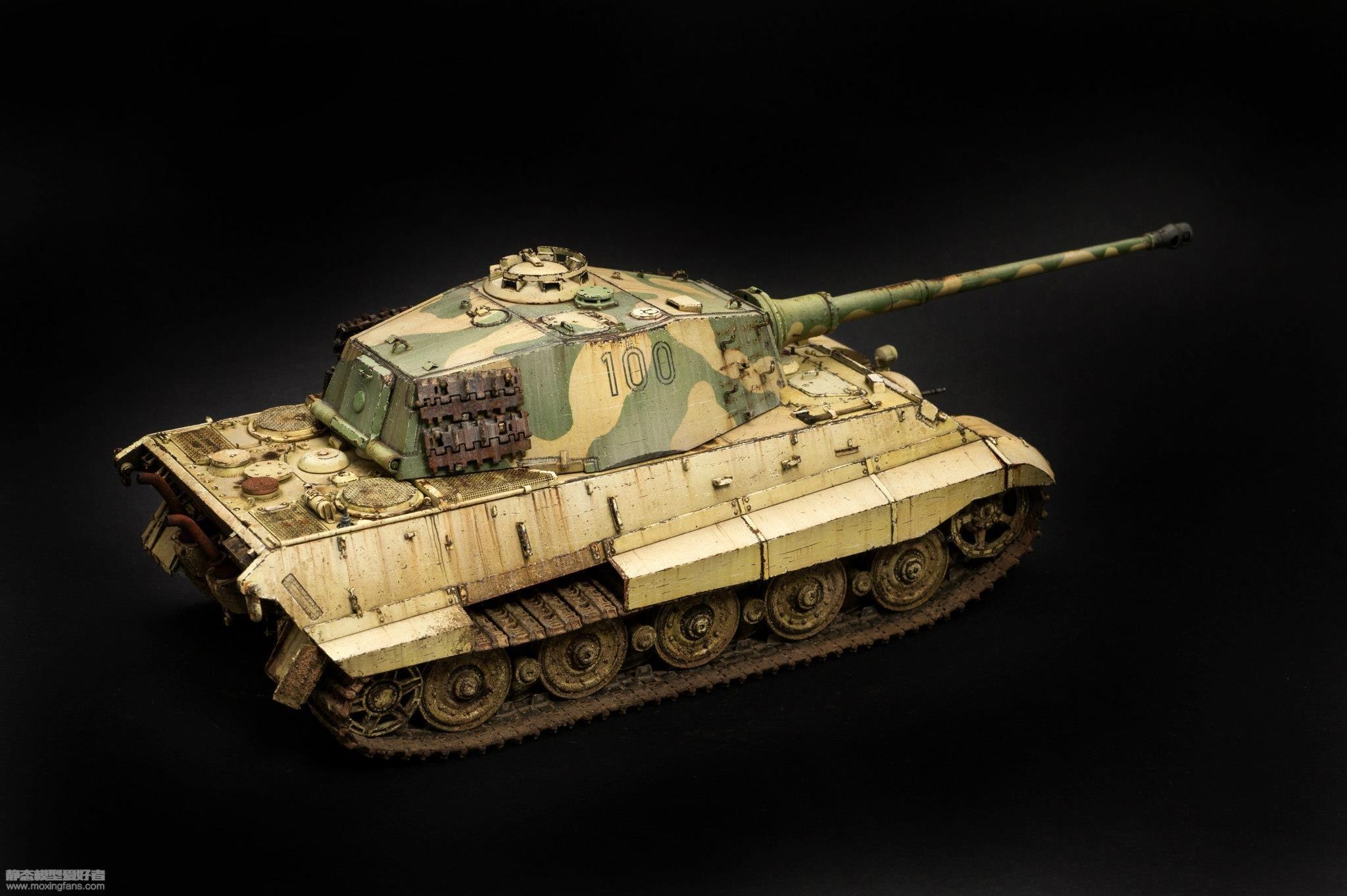 虎王重型坦克 涂装_德国虎王重型坦克八爪鱼涂装(威龙)_静态模型爱好者--致力于 ...