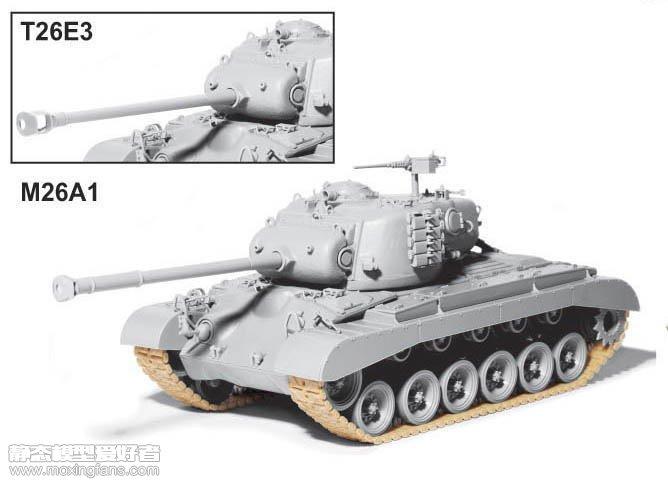 t26cc_【威龙 9107】美国m26a1/t26e3潘兴重型坦克2in1板件图和说明书