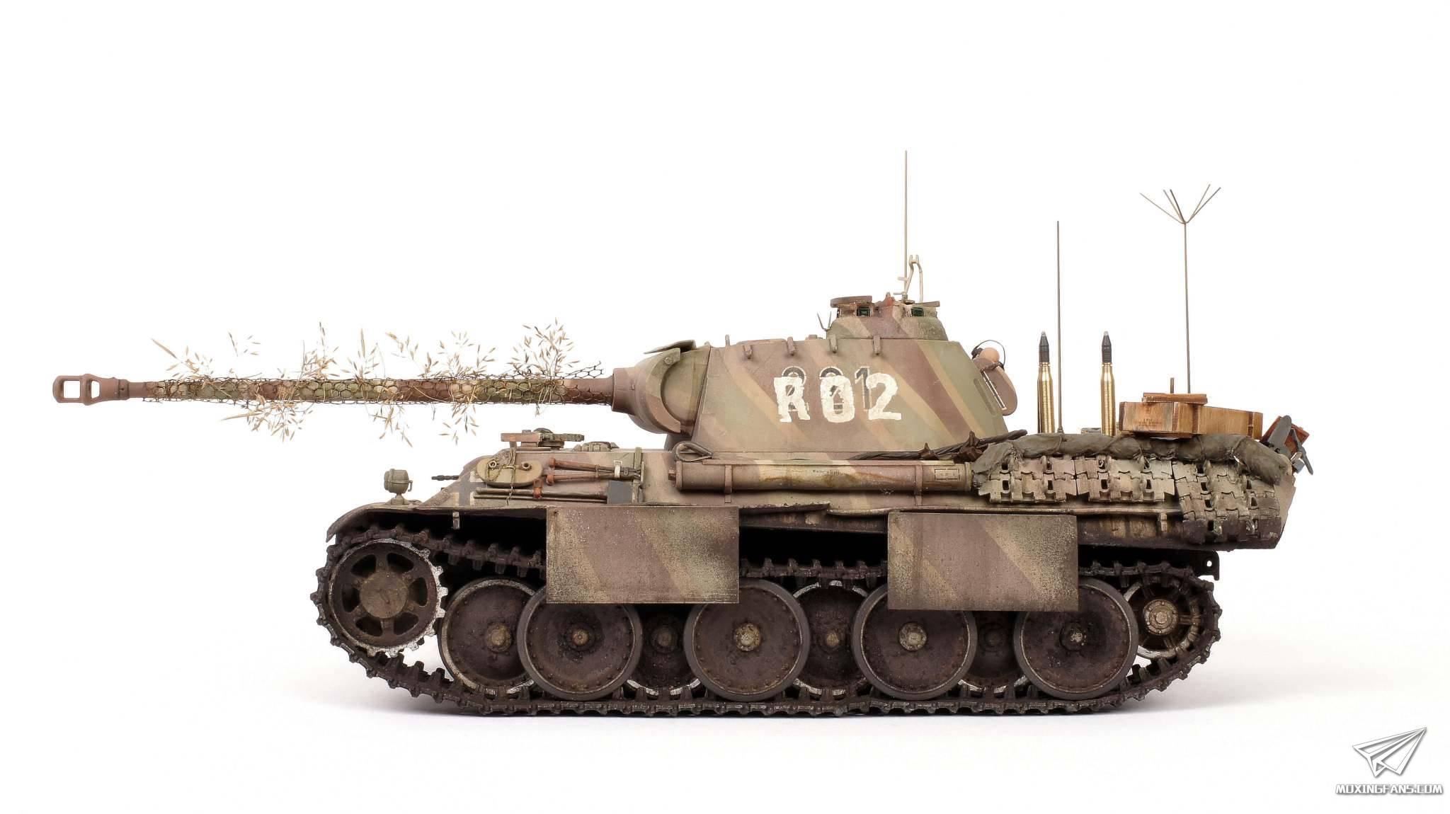德国人_1/35 德国豹式坦克G型(田宫)_静态模型爱好者--致力于打造最全 ...