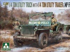 1/4吨多用途车含拖车及美国宪兵